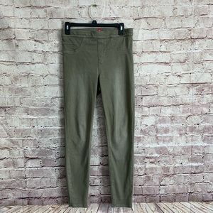 Spanx Medium M Green Jeanish Leggings Light wash